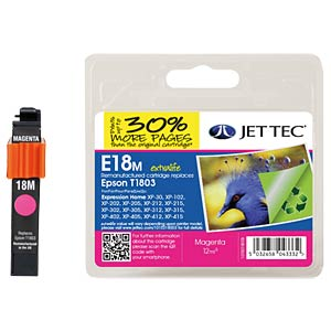 Tinte - Epson - magenta - T1803 - refill JET TEC E18M