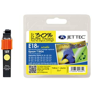Ink - Epson - yellow - T1804 - refill JET TEC E18Y