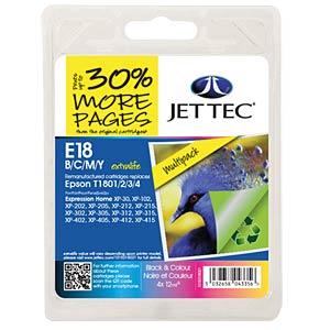 Tinte - Epson - MP - T180x - refill JET TEC E18B/C/M/Y
