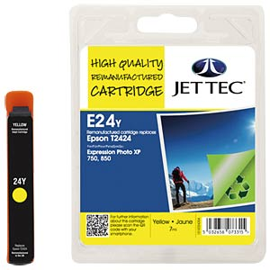 Ink - Epson - yellow - T2424 - refill JET TEC E24Y