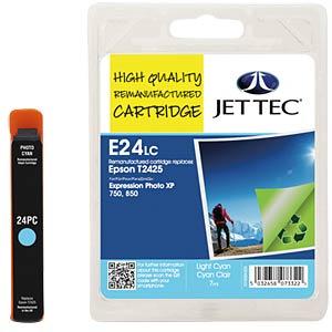 Tinte - Epson - hellcyan - T2425 - refill JET TEC E24LC