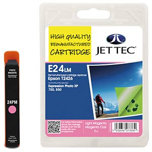 Ink - Epson - hellmagenta - T2426 - refill JET TEC E24LM