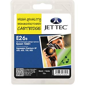 Tinte - Epson - schwarz - T2601 - refill JET TEC E26B