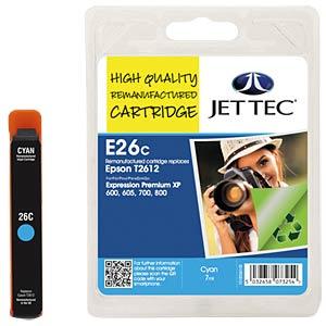 Ink - Epson - cyan - T2612 - refill JET TEC E26C