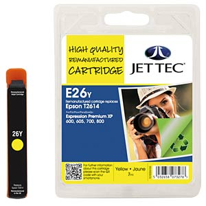 Ink - Epson - yellow - T2614 - refill JET TEC E26Y