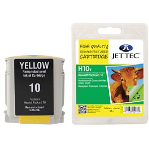 Ink - HP - yellow - 10 - refill JET TEC H10Y