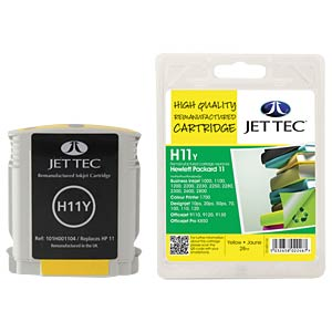 Ink - HP - yellow - 11 - refill JET TEC H11Y