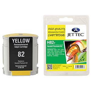 Ink - HP - yellow - 82 - refill JET TEC H82Y