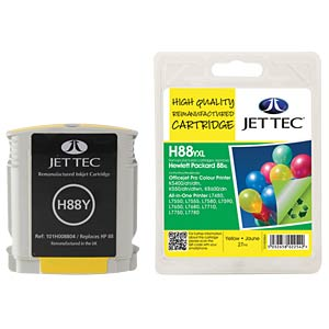 Ink - HP - yellow - 88 - refill JET TEC H88YXL