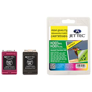Ink - HP - MP - 301XL - refill JET TEC H301XLB/C