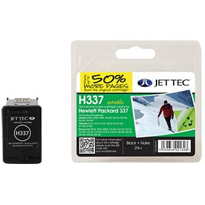 Ink - HP - black - 337 - refill JET TEC H337
