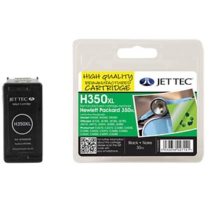 Ink - HP - black - 350XL - refill JET TEC H350XL
