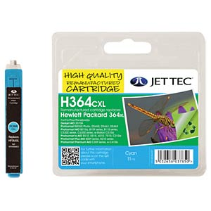 Ink - HP - cyan - 364XL - refill JET TEC H364CXL