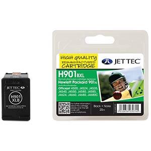 Kleur - HP - zwart - 901XL - navulling JET TEC H901BXL