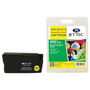 Ink - HP - yellow - 951XL - refill JET TEC H951YXL