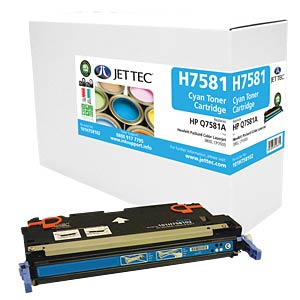 Toner - HP - cyan - Q7581A - rebuilt JET TEC H7581