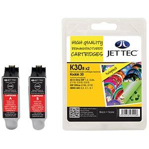 Ink - Kodak - 2x black - 30 - refill JET TEC K30B