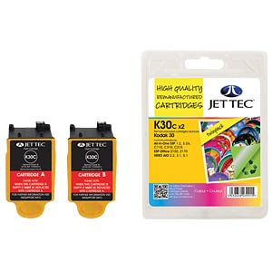 Ink - Kodak - 2x color - 30 - refill JET TEC K30C