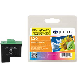Ink - Lexmark - color - 26 - refill JET TEC L26