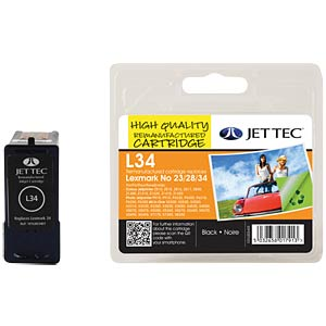 Tinte - Lexmark - schwarz - 23/28/34 - refill JET TEC L34