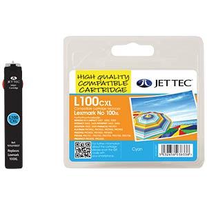 Tinte - Lexmark - cyan - 100XL - refill JET TEC L100XLC