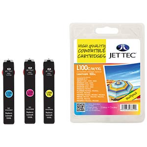 Tinte - Lexmark - MP - 100XL - refill JET TEC L100XLCMY