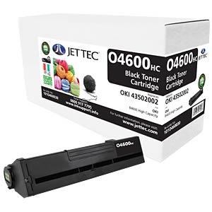 Toner - Oki - schwarz - 43502002 - rebuilt JET TEC O4600HC