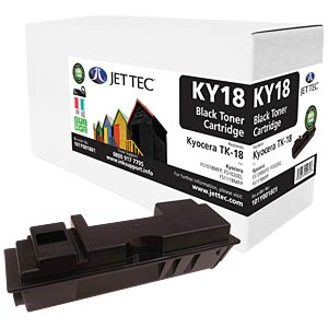 Toner - Kyocera - black - TK-18 - compatible JET TEC KY18