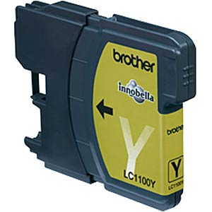 Yellow: Brother MFC-6490CW, MFC-5490CN BROTHER LC1100Y