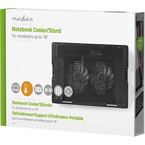 Laptop-Ständer, bis zu 18, Universal, Schwarz NEDIS NBCR200BK