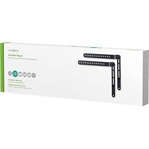 Soundbar Mount, TV Screen 32-65, 360° Rotatable, Max 10 kg NEDIS SBMT10BK