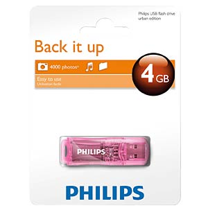 USB-Stick, USB 2.0, 4 GB, Urban PHILIPS FM04FD35B/00