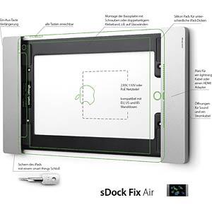Halter, iPad Air, iPad Pro 9,7, Wand, sDock Fix Air S11 SMART THINGS sDFix-Air-1.0 s
