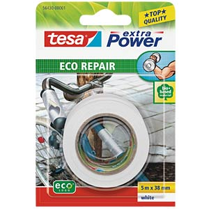 Gewebeband tesa extra Power® Eco Repair, 5 m x 38 mm, weiß TESA 56430-00001-00