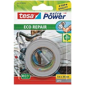 Gewebeband tesa extra Power® Eco Repair, 5 m x 38 mm, grau TESA 56430-00002-00