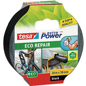Gewebeband tesa extra Power® Eco Repair, 20 m x 38 mm, schwarz TESA 56432-00000-00