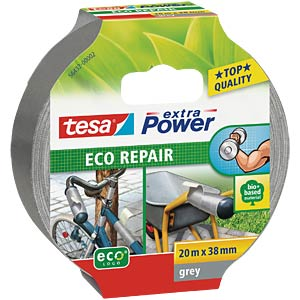 Gewebeband tesa extra Power® Eco Repair, 20 m x 38 mm, grau TESA 56432-00002-00