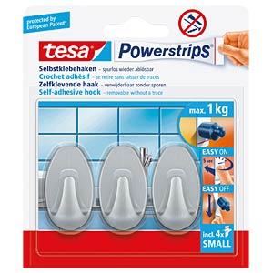 tesa® Powerstrips® Haken Oval matt-chrom TESA 57519-00000-00