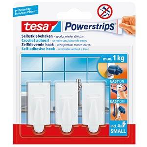 tesa® Powerstrips® trendy hooks, white TESA 57559-00000-00