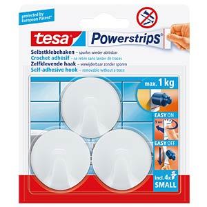 tesa® Powerstrips® Haken Rund, weiß TESA 57577-00000-00