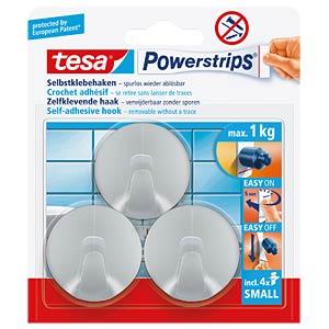 tesa® Powerstrips® Haken Rund, matt chrom TESA 57578-00000-00