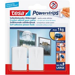 tesa® Powerstrips® Bilder-Nagel, weiß TESA 58031-00020-00