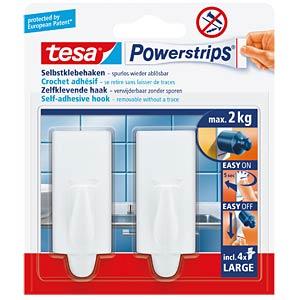 tesa® Powerstrips® Large trendy hooks, white TESA 58045-00000-00
