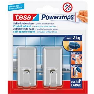 tesa® Powerstrips® classic hooks, chrome TESA 58051-00010-01