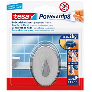 tesa® Powerstrips® Metall-Haken, oval TESA 58121-00000-03