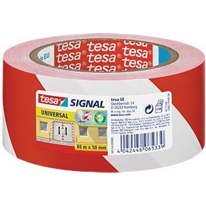 Klebeband tesa® Signal Universal, 66 m x 50 mm, rot/weiß TESA 58134-00000-00