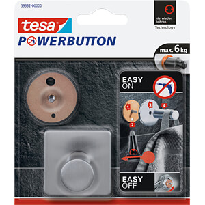 tesa® Powerbutton Haken - Classic eckig TESA 59332-00000-00