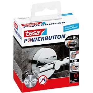tesa® Powerbutton Haken - Deluxe rund glänzend TESA 59340-00000-00