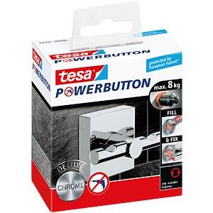 tesa® Powerbutton Haken - Deluxe eckig glänzend TESA 59341-0000-00