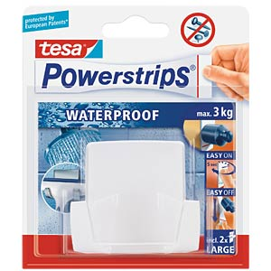 Powerstrips® Waterproof Wave duo hook, white TESA 59704-00000-00
